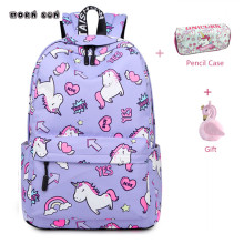 купить Unicorn Backpack School Bags For Women 2019 Fashion Printing School Backpack Sac A Dos Travel Laptop Backpack Mochila Feminina дешево
