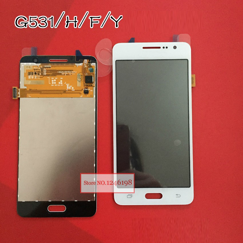 Black White Gold Touch Screen Digitizer Panel Sensor LCD Display Assembly For Samsung Galaxy Grand Prime