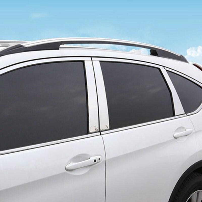 Prix pour Pour Honda CRV CR-V 2012 2013 2014 2015 2016 Acier Inoxydable Fenêtre Versions Centre Piliers Housses Décoration 6 Pcs De Voiture accessoires