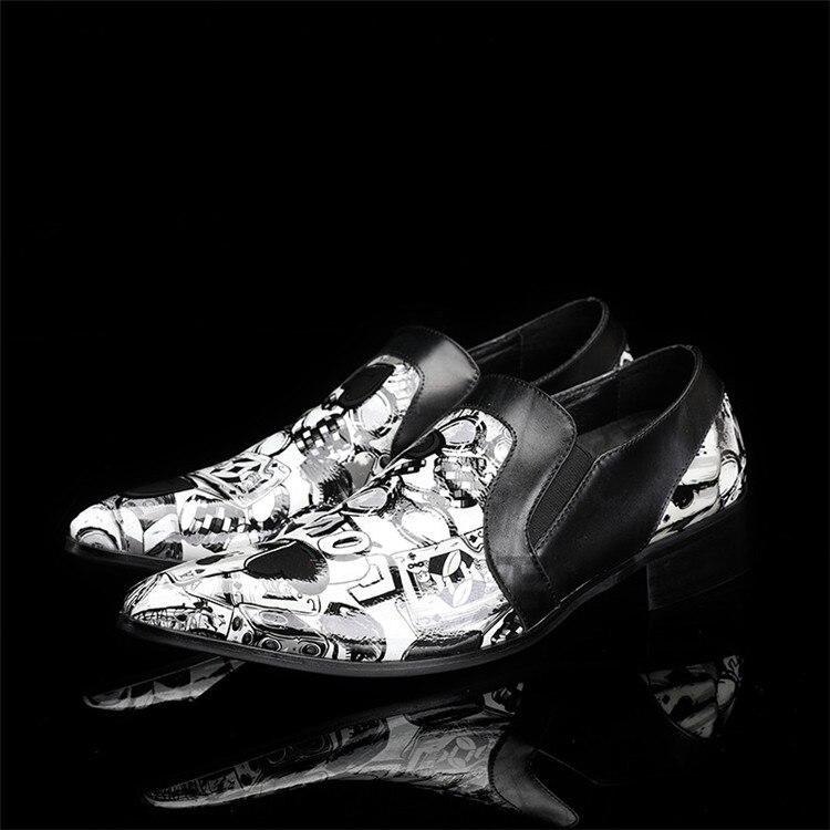 2018 spring Designer Fashion Genuine Leather Men Dress Shoes Italian Wedding Formal Shoes Print Men Oxford Shoes Men Flats 2017 new spring imported leather men s shoes white eather shoes breathable sneaker fashion men casual shoes