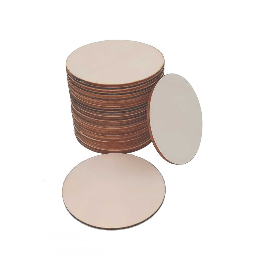 100 шт 50 мм 1,96 дюймов деревянные круглые ломтики деревянные круги украшения для свадебные ремесла Искусство изготовление