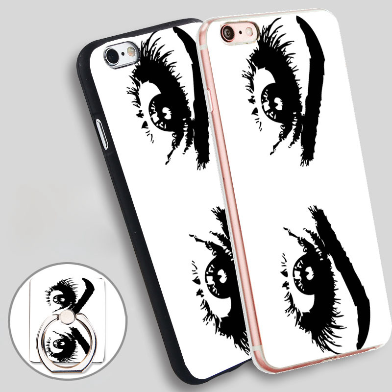 eyes of woman clipart Soft TPU Silicone Phone Case Cover for iPhone 4 4S 5C 5 SE 5S 6 6S 7 Plus