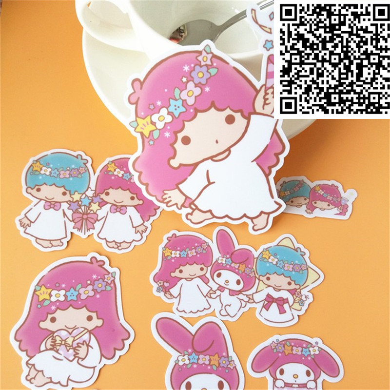New 20 Pcs Fairy Sister DIY Decal Mobile/PC Art Rhinestone Self Adhesive Scrapbooking Stickers Car Sticker Wedding Decoration