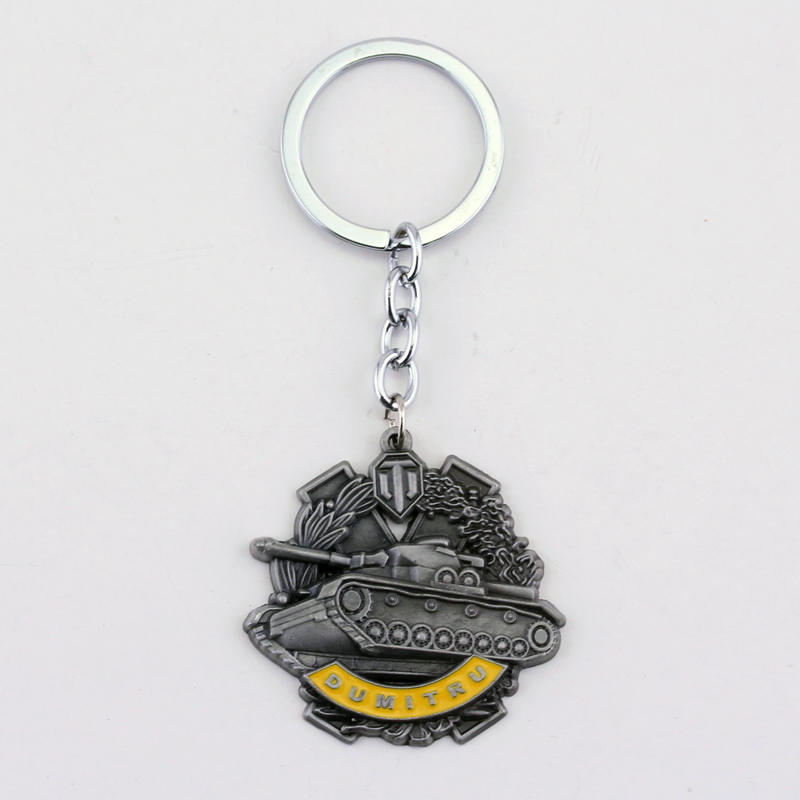 dongsheng Game World Of Tanks Keychain WOT Pendant Keychain Metal Men Car Key Gift Tank War Pendant Keyring Jewelry -50 image