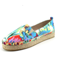 Espadrilles Women's Platform Flats Canvas Loafers Shoe hemp jute Casual shoes platform espdrilles for women breathable natural