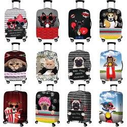 Bulldog padrão acessórios de viagem capa de bagagem mala proteção bagagem capa poeira estiramento tecidos tronco conjunto casos para