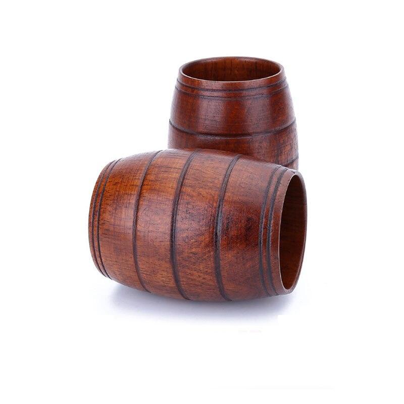 50 Stks/partij Houten Buik Bier Cup Hout Gesneden Klassieke Thee Cup Milieuvriendelijke Drinkware Keuken Bar Accessoires Gemakkelijk Te Smeren