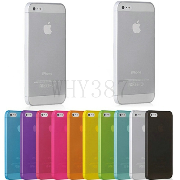 10 шт./лот матовый прозрачный задняя крышка для iPhone 5S ультра тонкая кожа тонкий Чехол протектор Shell чехол для телефона