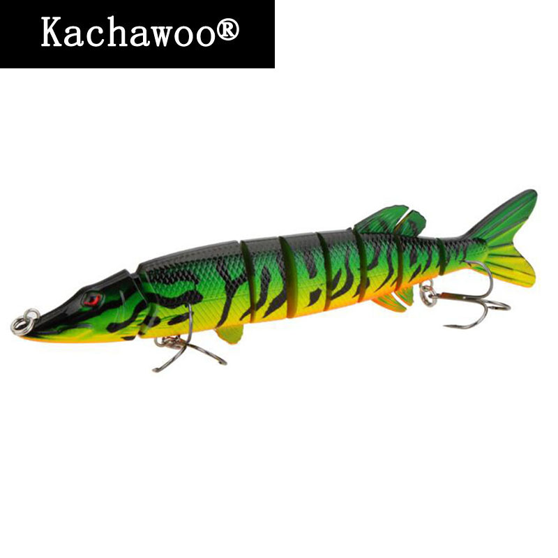 Pike Muskie Fishing Lure 8 Inch isca artificial 20cm 66g Lifelike Multi-jointed 8 segements Swimbaits Hard Bait Fish Freshwater