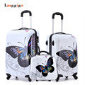 "Cartoon butterfly picture design Luggage,20""24""inch Carry-Ons,Child Women's Suitcase,ABS Travel Bag,Universal wheel Trolley box"