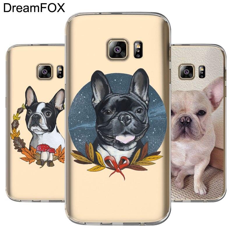 DREAMFOX M224 French Bulldog Soft TPU Silicone Cover Case For Samsung Galaxy S5 S6 S7 S8 S9 S10 S10E Lite Edge Plus