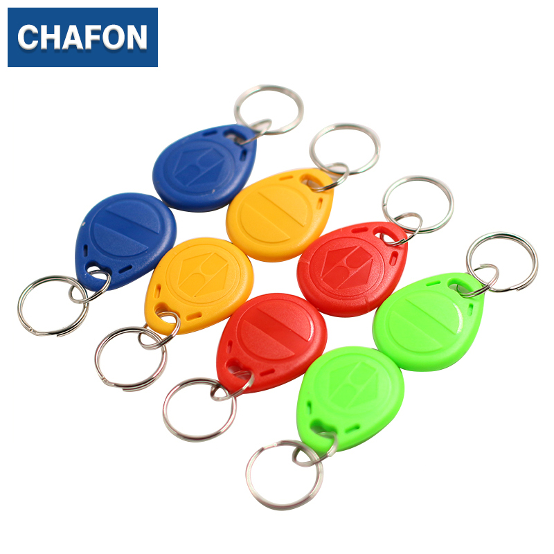 100pcs EM4305 Copy Rewritable Writable Rewrite EM ID keyfobs RFID Tag Key Ring Card 125KHz Proximity used for access control