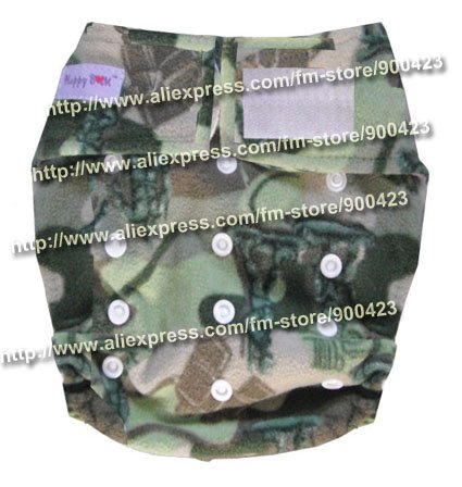 Моющиеся детские подгузники 10 шт. тканевые подгузники+ 10 шт. вставки подходят 4-17 кг - Цвет: army