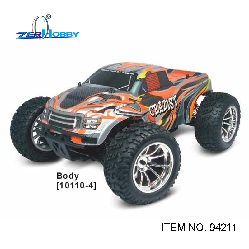 hsp racing car CRAZYIST 94211 RTR 1/10 scale electric 4wd off road rc monster truck brushed rc540 motor 7.2v 1800mAh battery hongnor ofna x3e rtr 1 8 scale rc dune buggy cars electric off road w tenshock motor free shipping