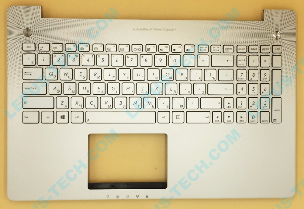 все цены на RU Russian Keyboard for ASUS N550 N550JV N550JK keyboard with backlight palmrest top case silver color