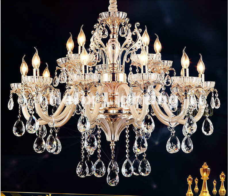 Hot Selling Modern LED lamps Factory Wholesale crystal chandelier modern Shinning Gold crystal chandelier AC 100% Guaranteed