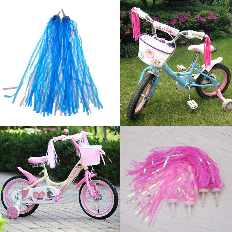 2 pcs Handlebar Streamers Tassels For Kids Bicycle Bike Cycling Tricycle Gift TC
