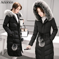 Winter Women Down Coat Jacket Warm High Quality Woman Park Winter Coat with Hood Fox Fur Aelorxin 2016 New Winter Collection