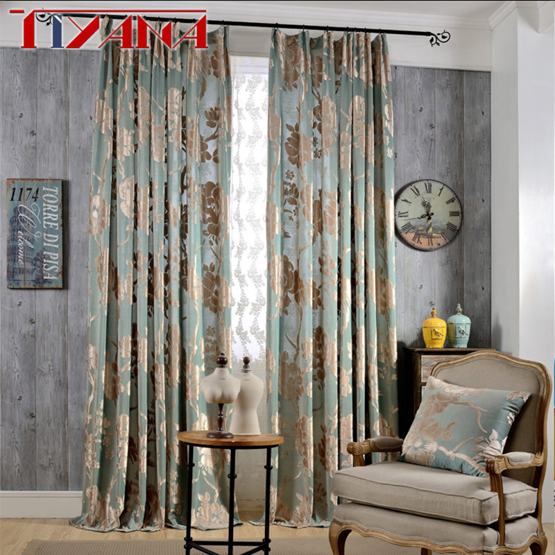 Huayin Velvet Linen Curtains Tulle Window Curtain For: European Damask Curtains For Living Room Luxury Jacquard