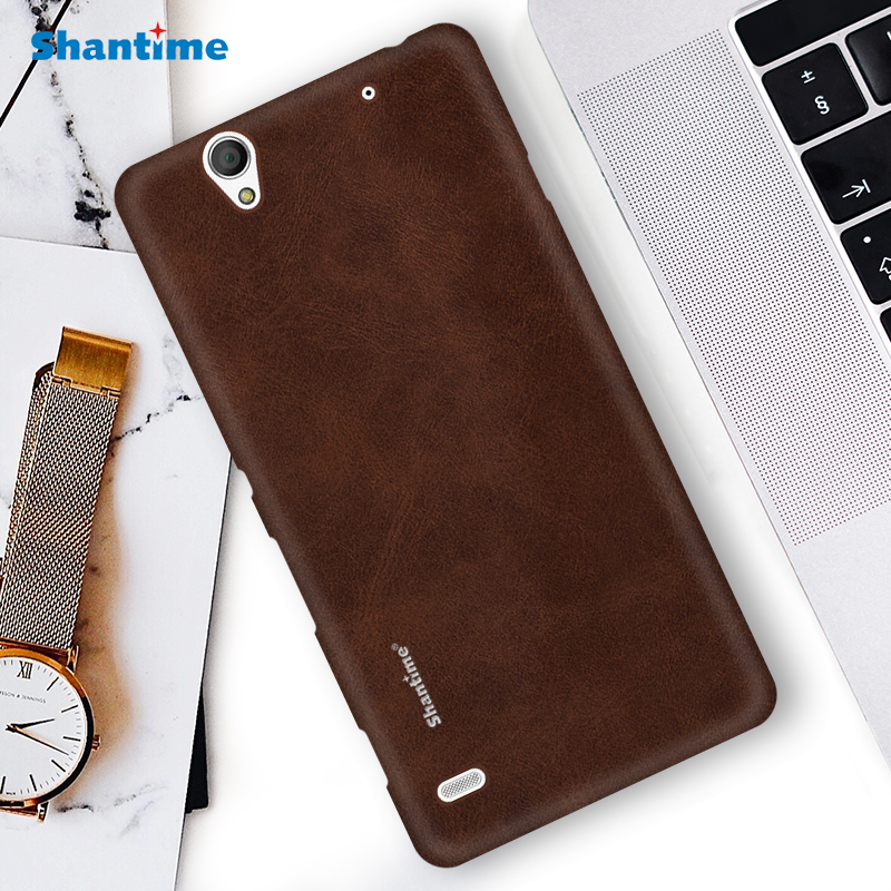 Hot Sell Case Luxury Vintage PU Leather Case For Sony Xperia C4 Phone Case For Sony Xperia C4 Business Style Cover