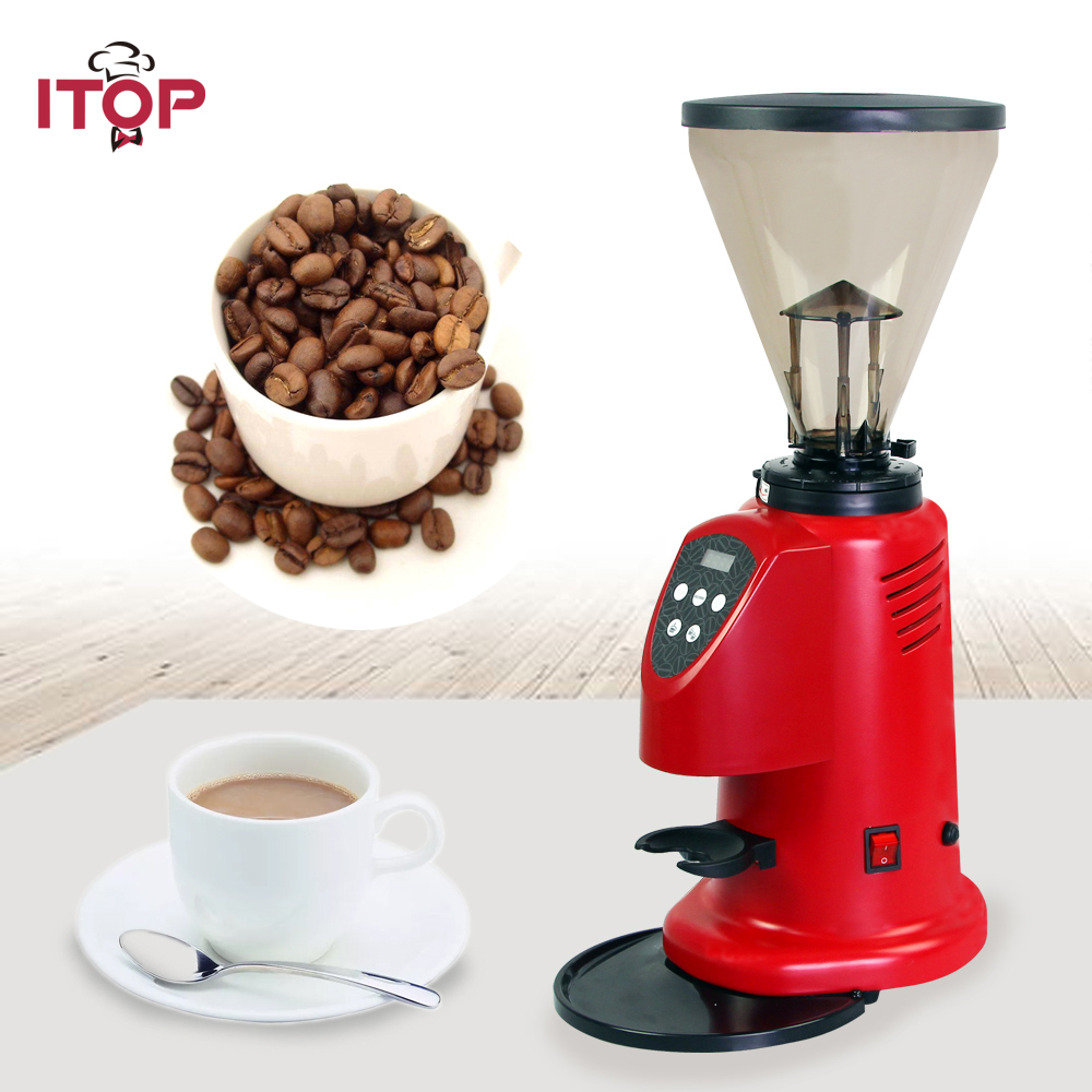 ITOP 110v 220v Commercial coffee grinder electric coffee bean grinder electric roasted grain beans grinding machine xeoleo professional coffee grinder commercial coffee powder milling machine electric coffee bean grinding machine coffee maker
