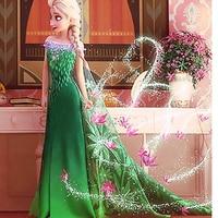 Girls Dresses Anna Elsa Cosplay Costume Princess Dresses Girls Flower Dress Kid S Party Baby Girls