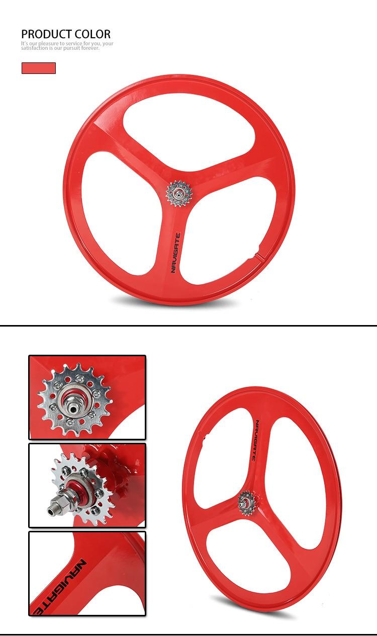 de estrada roda liga magnésio três raios