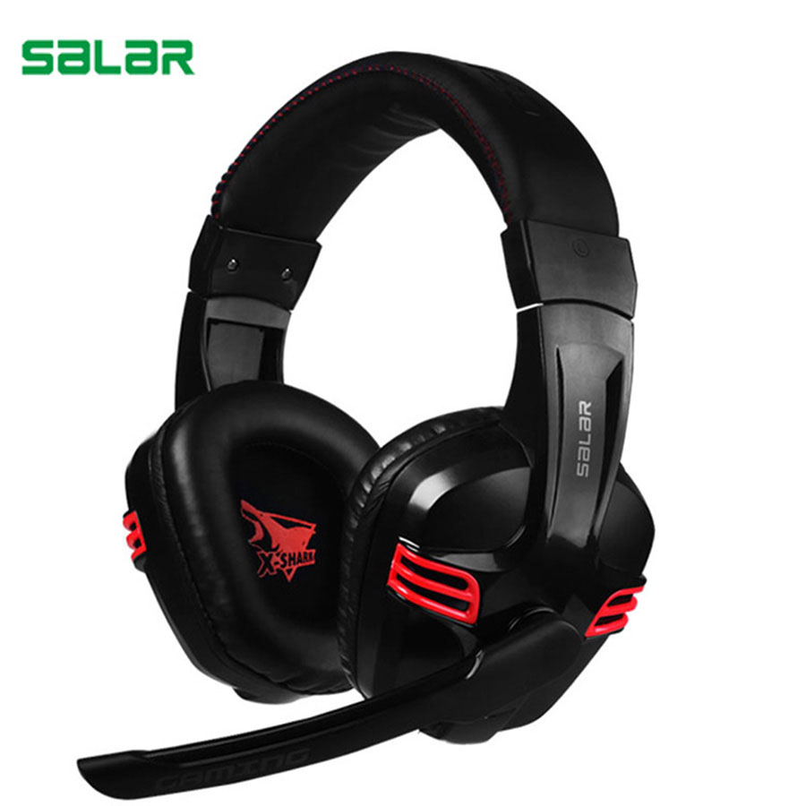 Salar KX236 Stereo Gaming Headset Over Ear Game Headphones Wired With Microphone Quality USB Headband Headphone For Computer high quality gaming headset with microphone stereo super bass headphones for gamer pc computer over head cool wire headphone