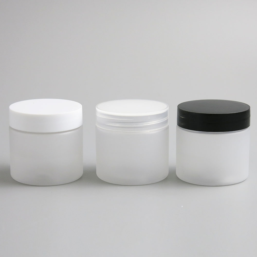 Image 2 - 30pcs Empty Clear Plastic Round Cream Lotion Jar bottle with black white Lids screw cap 60g 60ml 2oz Cosmetic Sample Containers-in Refillable Bottles from Beauty & Health