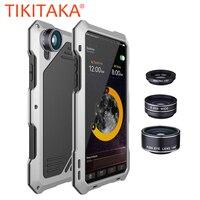 3 In 1 Fisheyes Macro Lens Phone Cases For IPhone X 8 7 6 6s Plus