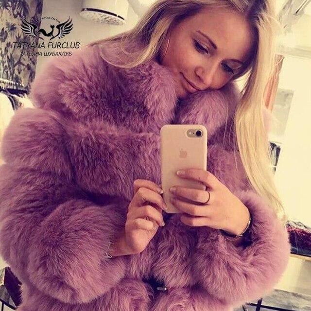Tatyana Furclub Real Fur Coat Natural Fox Fur coat Jacket Fashion Fur Girl Winter Coat Female For Women Plus Size Can customized 3