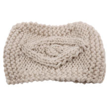 Big eyes knitting weaving headband (Beige)