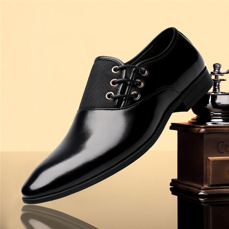 uomo Business Leather scarpe da marrone scarpe nere sera Oxford Flats da italiane per scuro Merkmak Scarpe sera Luxury marroni scarpe Brand Office Men 0Yzn0gR