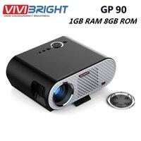 VIVIBRIGHT GP90 ЖК дисплей проектор 3200 люмен проектор для домашнего Театр Full HD 1080 P проектор видео проектор Android OS