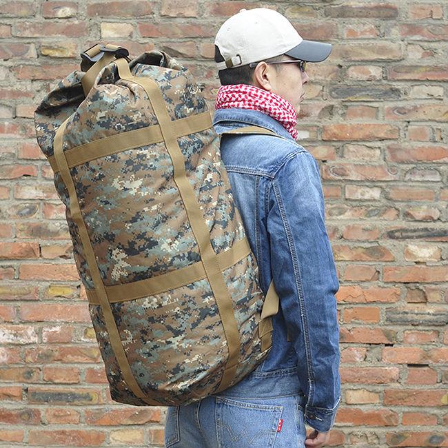 Free shipping Large capacity man travel bag outdoor mountaineering backpack men bags hiking camping Nylon bucket shoulders bag banbao 6408