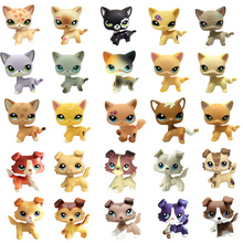 лучшая цена Lps Pet Shop Toys Short Hair Cat Collie Dog Lps Collection Action Standing Figure Cosplay Toys Children Best Gift