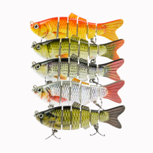 Купить с кэшбэком 1PC 10cm Crankbait Fishing Lure Wobbler Multi Jointed Swimbait Fishing Crankbaits Lift Like Fish 2 Treble Hooks Pesca Hot