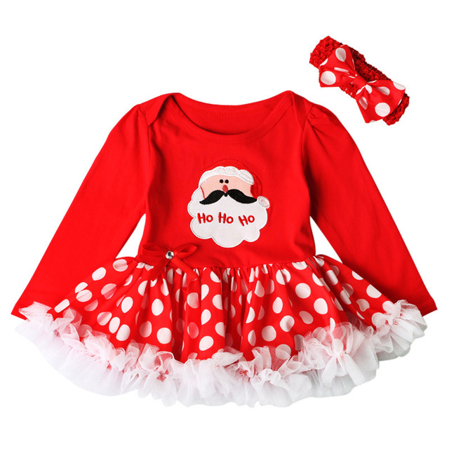 christmas baby girls dress newborn christmas costumes santa claus infant toddler baby christmas dresses