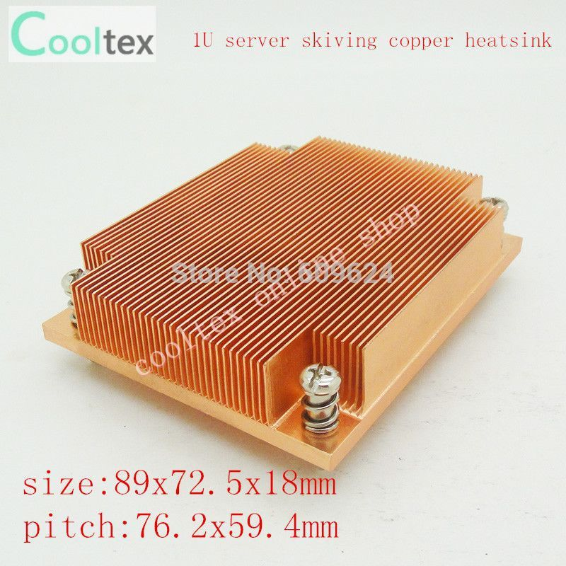 Dynatron Passive CPU Copper skiving fin HeatSink For 1U Server ,Intel Pentium 4 Socket 478 skiving heatsink 75 29 3 15 2mm pure copper radiator copper cooling fins copper fin can be diy longer heat sink radiactor fin coliing fin