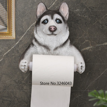 Милая свинья кошка собака креативная бумажная вешалка для полотенец Настенная домашняя рулонная бумажная коробка Ванная комната Водонепроницаемый держатель туалетной бумаги