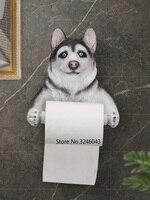 Cute pig cat dog creative paper towel rack wall hanging household roll paper box bathroom waterproof toilet paper holder