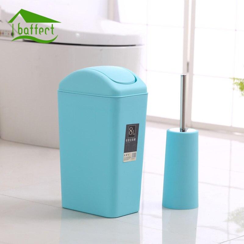 Nouvelle Creative Mode En Plastique Poubelle 8L/12L Secouer la Couverture Type Poubelle De Cuisine Salon Toilettes Corbeille Bureau papier Panier