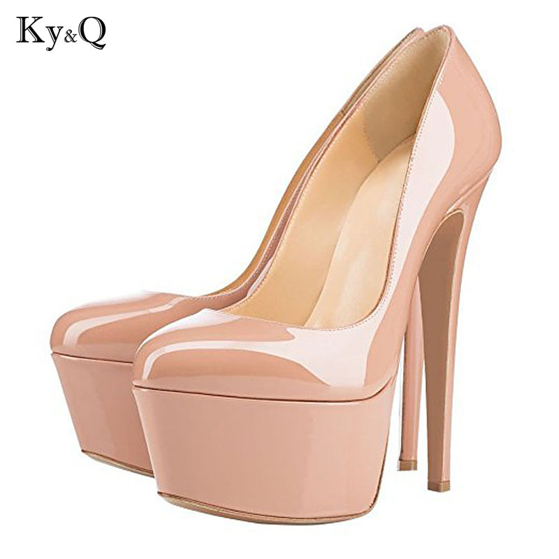 2018 Summer European Sexy Platform Sandals Women Round Toe High Heels Shoes Ladies Party Club Pumps Plus Size 34-46 2017the mostfashion trends european and american brands genuine flowers ladies luxury short shoes club sexy women s shoes