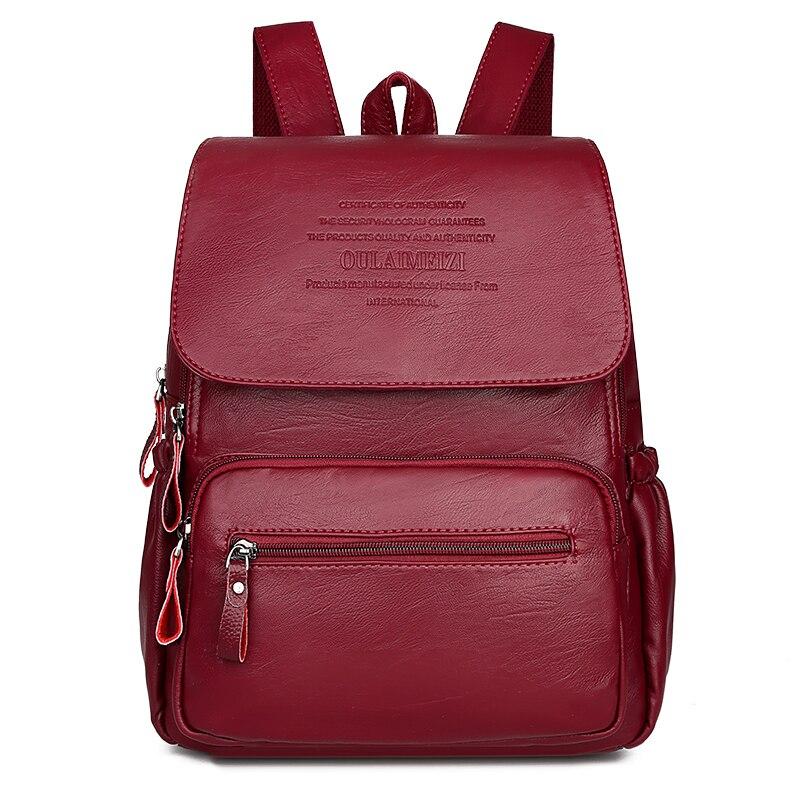 2019 mulheres de alta qualidade mochilas couro feminino bolsa ombro sac a dos senhoras viagem bagpack sacos escola para meninas