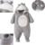 Macacões Do Bebê Modelos de inverno Grosso Casaco Quente Do Bebê Roupas de Algodão Com Capuz Destacável Fora ATLL0066