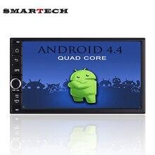 """7 """"HD Android 4.4 Panel Táctil de Navegación GPS Del Coche Reproductor de Radio Wifi 2 Din Universal de la unidad Principal En El Tablero de Coches de Vídeo de Cuatro Núcleos 1G RAM"""