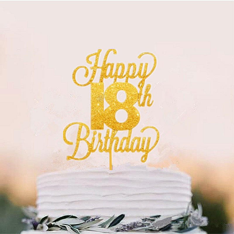 Marvelous Happy 18Th Birthday Cake Topper Eighteen Daughter Son Nephew Niece Funny Birthday Cards Online Fluifree Goldxyz