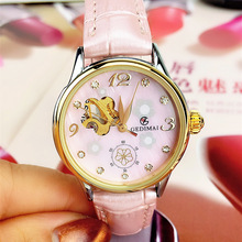 Watch Women Automatic Waterproof Top Brand Mechanical Watches Leather Gold Clocks Elegant Ladies Relogio Feminino
