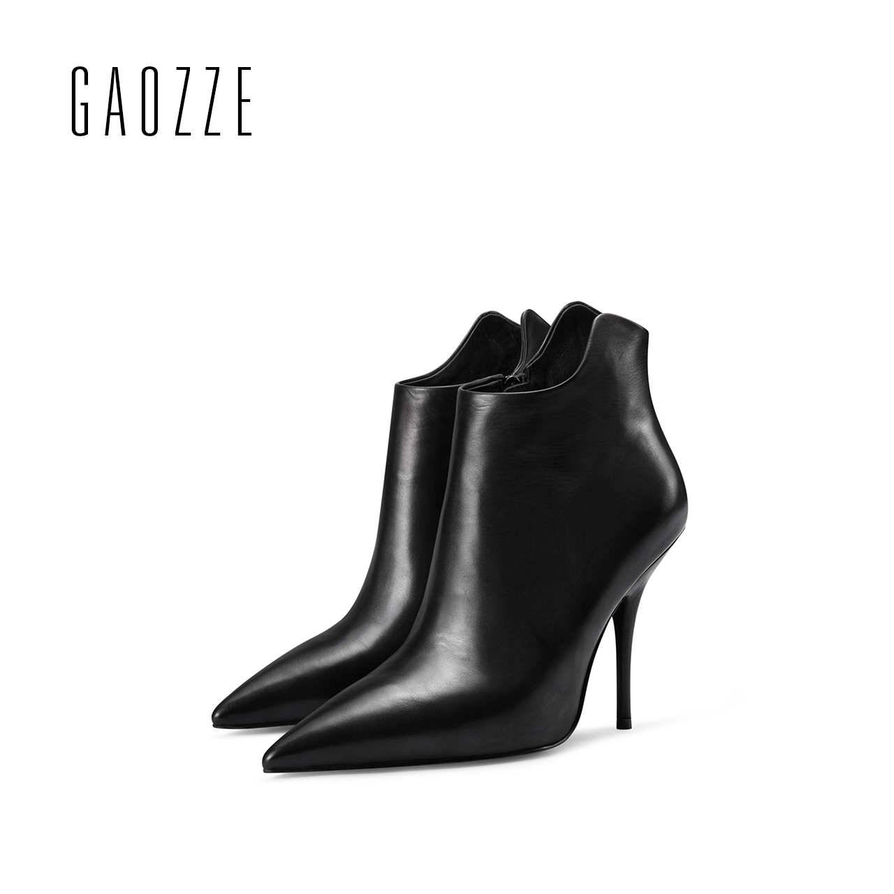 GAOZZE genuine leather women shoes sexy high heel boots 2017 pointed toe ankle boots for women side zipper ankle boots shoes xiangban handmade genuine leather women boots high heel ankle boots pointed toe vintage shoes red coffee 6208k11