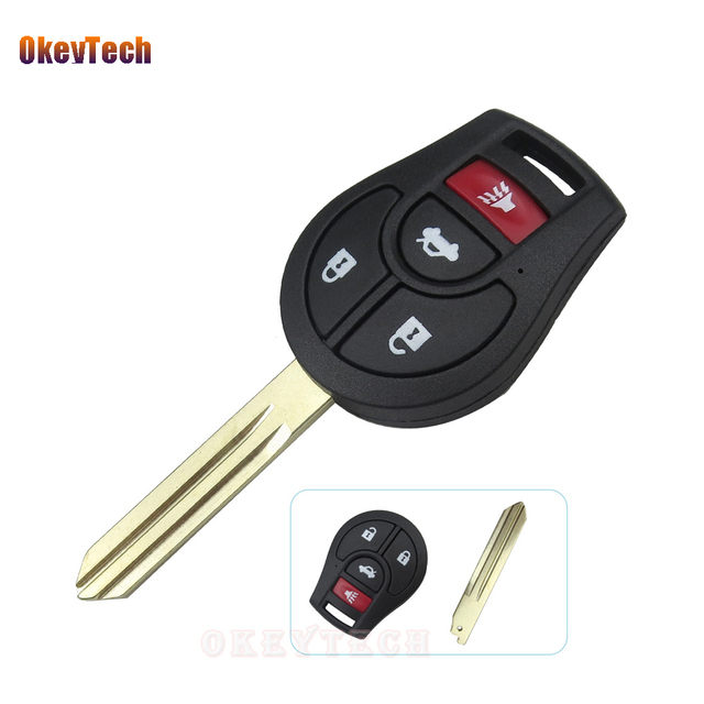 Wonderful OkeyTech For Nissan Key Shell 3+1 4 Button Replacement Car Remote Key Fob  Cover